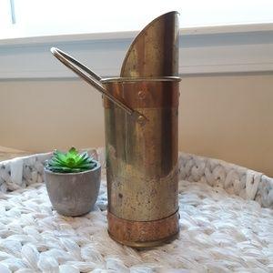 Vintage brass tall matchstick  holder